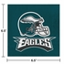 Midnight green, black and white Philadelphia Eagles Luncheon Napkins sold in quantities of 16 / pkg, 12 pkgs / case