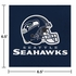 Blue and silver Seattle Seahawks Luncheon Napkins sold in quantities of 16 / pkg, 12 pkgs / case