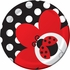 Red and black Ladybug Fancy Dessert Plates sold in quantities of 8 / pkg, 12 pkgs / case