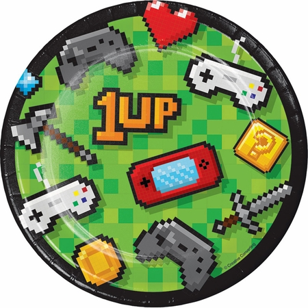 Video Games Party Dessert Plates 96 ct