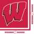 Red and white University of Wisconsin Luncheon Napkin sold in quantities of 20 / pkg, 12 pkgs / case