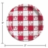 Red Gingham Dessert Plates 96 ct