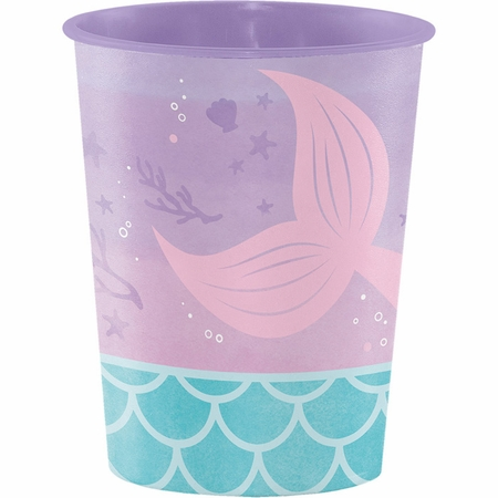 Iridescent Mermaid Party 16 oz Favor Cups 12 ct