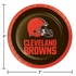 Orange and brown Cleveland Browns Dessert Plates are sold 8 / pkg, 12 pkgs / case