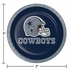 Blue and silver Dallas Cowboys Dessert Plates are sold 8 / pkg, 12 pkgs / case