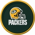 Green and gold Green Bay Packers Dessert Plates are sold 8 / pkg, 12 pkgs / case