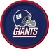 Blue, red and white New York Giants Dessert Plates sold in quantities of 8 / pkg, 12 pkgs / case