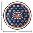 Blue and orange Auburn University Dessert Plate sold in quantities of 8 / pkg, 12 pkgs / case