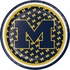 Blue and yellow University of Michigan Dessert Plate sold in quantities of 8 / pkg, 12 pkg / case