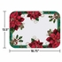 "13.5"" X 18.75"" Traditional Poinsettia Paper Traymats 1000 ct"