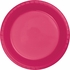 Touch of Color Hot Magenta Plastic Banquet Plates in quantities of 20 / pkg, 12 pkgs / case