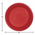 Touch of Color Classic Red Plastic Banquet Plates in quantities of 20 / pkg, 12 pkgs / case