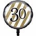 Black and Gold 30th Birthday Mylar Balloons 10 ct