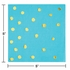 Bermuda Blue and Gold Foil Dot Beverage Napkins 192 ct