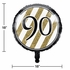 Black and Gold 90th Birthday Mylar Balloons 10 ct