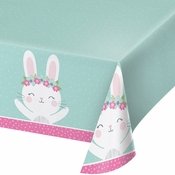 Bunny Party Plastic Tablecloths 6 ct