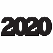 2020 Cutout Decorations 12 ct