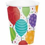 Shimmering Balloons Paper Cups 96 ct