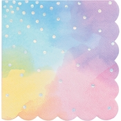 Iridescent Party Beverage Napkins 192 ct