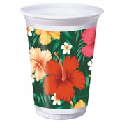 Tropical Flowers Plastic Cups 96 ct