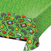 Video Games Party Plastic Tablecloths 6 ct