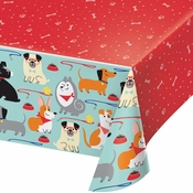 Dog Party Plastic Tablecloths 6 ct