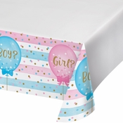 Gender Reveal Balloons Plastic Tablecloths 6 ct