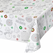 Christmas Paper Activity Tablecloths 12 ct