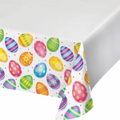 Colorful Easter Eggs Plastic Tablecloths 12 ct