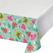 Modern Florals Plastic Tablecloths 12 ct