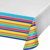 Colorful Summer Plastic Tablecloths 12 ct
