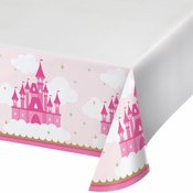Little Princess Plastic Tablecloths 12 ct