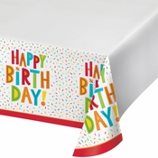 Birthday Fun Plastic Tablecloths 12 ct