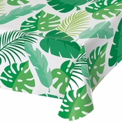 Palm Leaves Plastic Tablecloths 6 ct