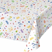 Confetti Plastic Tablecloths 6 ct