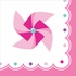 1st Birthday Pinwheel Girl Beverage Napkins 192 ct