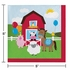 Red and green Farmhouse Fun Beverage Napkins are sold in quantities of 18 / pkg, 12 pkg / case