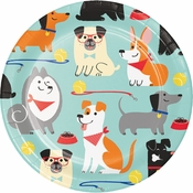 Dog Party Dessert Plates 96 ct