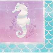 Iridescent Mermaid Party Beverage Napkins 192 ct
