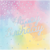 Iridescent Party Happy Birthday Luncheon Napkins 192 ct