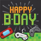 Video Games Party Birthday Luncheon Napkins 192 ct