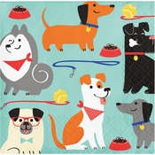 Dog Party Beverage Napkins 192 ct