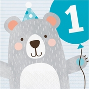 Bear Party 1st Birthday Luncheon Napkins 192 ct