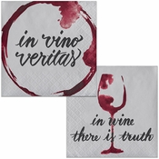 Wine Party Vino Veritas Beverage Napkins 288 ct