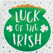 Irish Shamrocks Luck of the Irish Beverage Napkins 192 ct