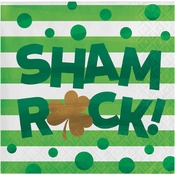 Irish Shamrocks Shamrock Beverage Napkins 192 ct