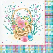 Easter Plaid Beverage Napkins 192 ct