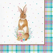 Easter Plaid Luncheon Napkins 192 ct