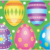 Colorful Easter Eggs Beverage Napkins 192 ct