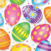 Colorful Easter Eggs Luncheon Napkins 192 ct